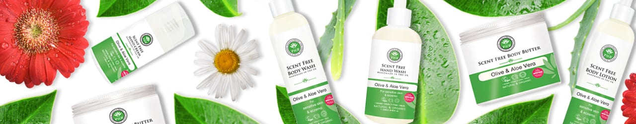 Scent Free Body Care Range